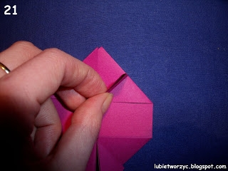 Сердечки-валентинки оригами из бумаги для украшения подарка (21) (320x240, 50Kb)