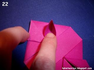 Сердечки-валентинки оригами из бумаги для украшения подарка (23) (320x240, 52Kb)