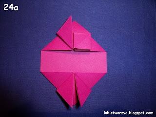 Сердечки-валентинки оригами из бумаги для украшения подарка (27) (320x240, 51Kb)