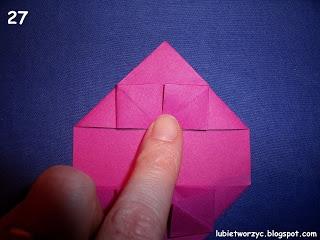 Сердечки-валентинки оригами из бумаги для украшения подарка (31) (320x240, 57Kb)