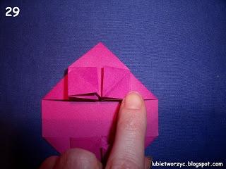Сердечки-валентинки оригами из бумаги для украшения подарка (33) (320x240, 54Kb)