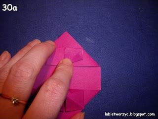 Сердечки-валентинки оригами из бумаги для украшения подарка (35) (320x240, 50Kb)