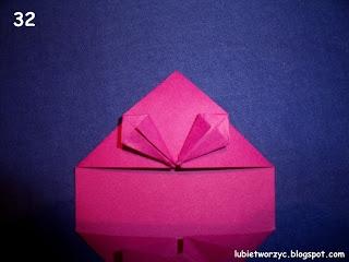Сердечки-валентинки оригами из бумаги для украшения подарка (37) (320x240, 48Kb)