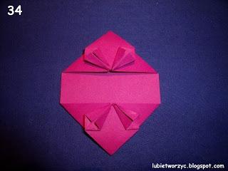 Сердечки-валентинки оригами из бумаги для украшения подарка (39) (320x240, 47Kb)