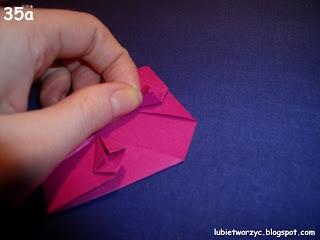 Сердечки-валентинки оригами из бумаги для украшения подарка (41) (320x240, 39Kb)