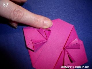 Сердечки-валентинки оригами из бумаги для украшения подарка (43) (320x240, 57Kb)