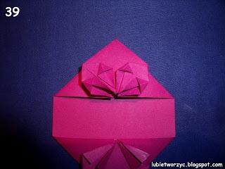 Сердечки-валентинки оригами из бумаги для украшения подарка (45) (320x240, 54Kb)