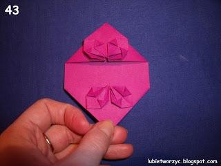 Сердечки-валентинки оригами из бумаги для украшения подарка (49) (320x240, 48Kb)