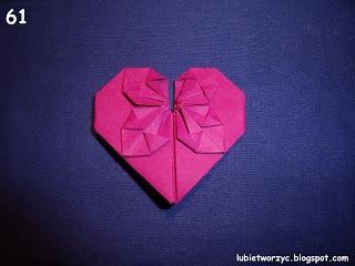 Сердечки-валентинки оригами из бумаги для украшения подарка (69) (320x240, 55Kb)