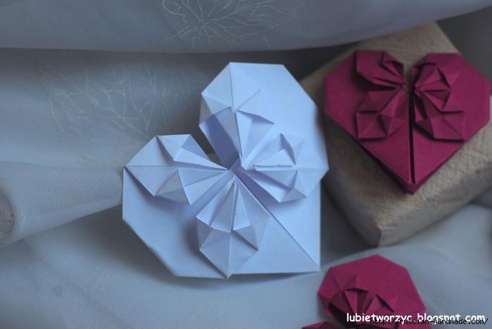 Сердечки-валентинки оригами из бумаги для украшения подарка (71) (700x468, 182Kb)