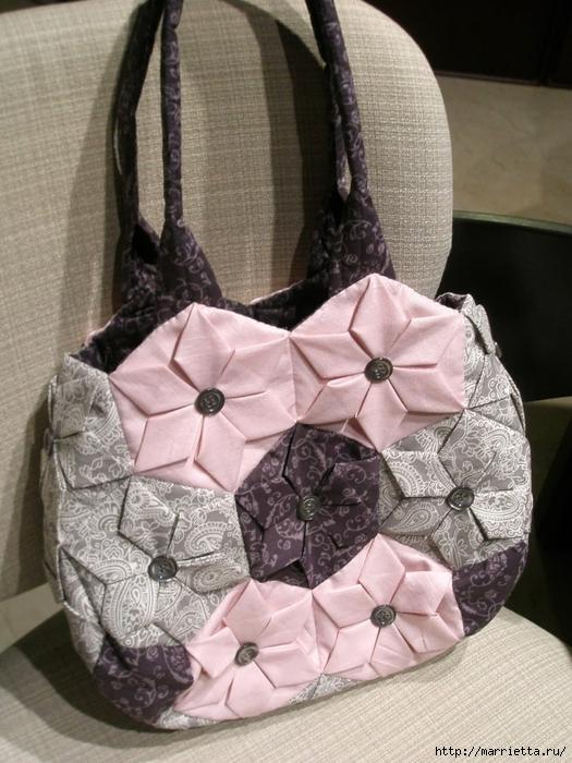 сумочки в технике оригами. шьем сами (6) (525x700, 296Kb)