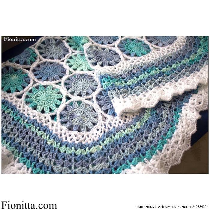 钩针:蓝色孩子毛毯 - maomao - 我随心动