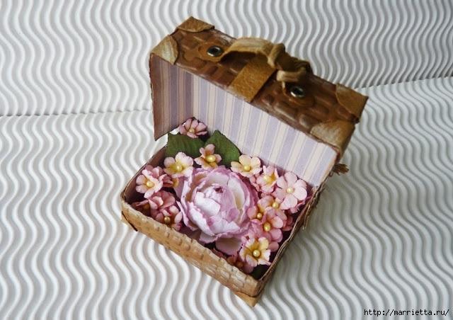 Скрапбукинг. Чемодан из фактурного картона (25) (640x452, 193Kb)