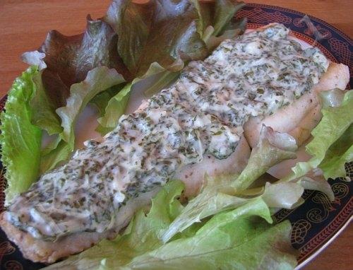 Нежная рыбка под щавелевым соусом. Рецепт (3) (500x382, 125Kb)