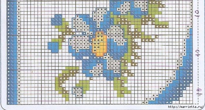 Схемы вышивки крестом для салфетки и полотенца (6) (700x375, 301Kb)