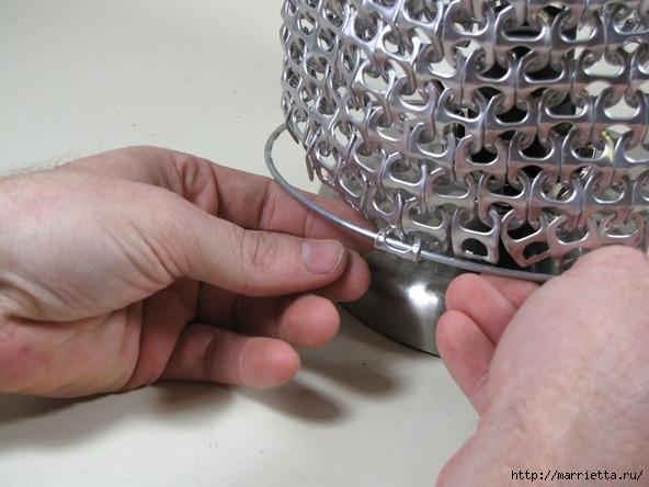 Креативный абажур из баночных ключей. Мастер-класс (18) (592x444, 164Kb)