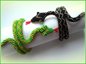 Схема браслеты змейка