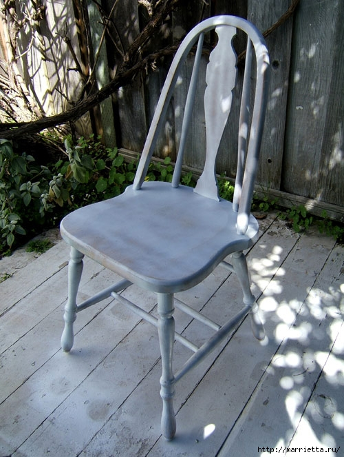 Кухонный стул с эффектом градиента. Реставрация мебели (4) (500x663, 242Kb)