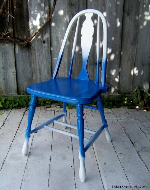 Кухонный стул с эффектом градиента. Реставрация мебели (8) (500x635, 227Kb)
