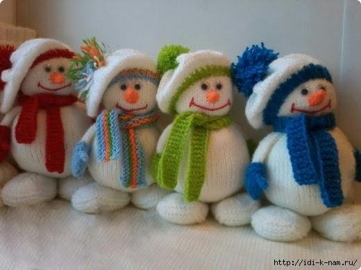 вязаный снеговичок, как связать снеговика, схема вязания снеговика, мастер класс по вязанию снеговичка фото, Вязаный снеговик Хьюго Пьюго,
