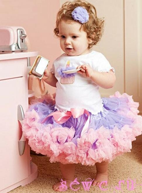 юбка для девочки из фатина (2) (486x659, 656Kb)