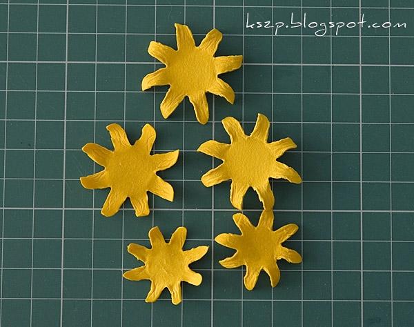 Цветы из бумаги. ПОДСОЛНУХИ (5) (600x474, 188Kb)