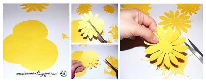 Цветы из бумаги. ПОДСОЛНУХИ (27) (700x284, 116Kb)