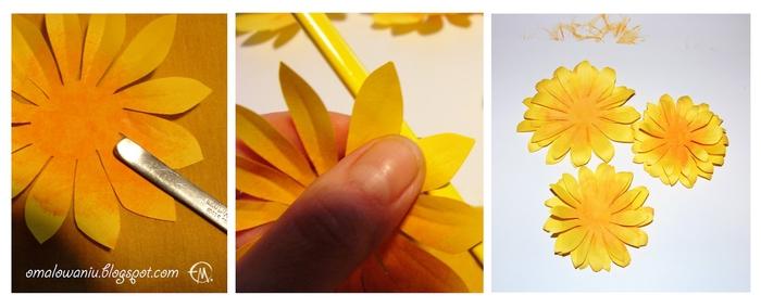 Цветы из бумаги. ПОДСОЛНУХИ (29) (700x284, 130Kb)