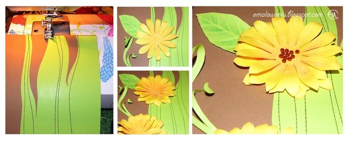 Цветы из бумаги. ПОДСОЛНУХИ (31) (700x284, 156Kb)