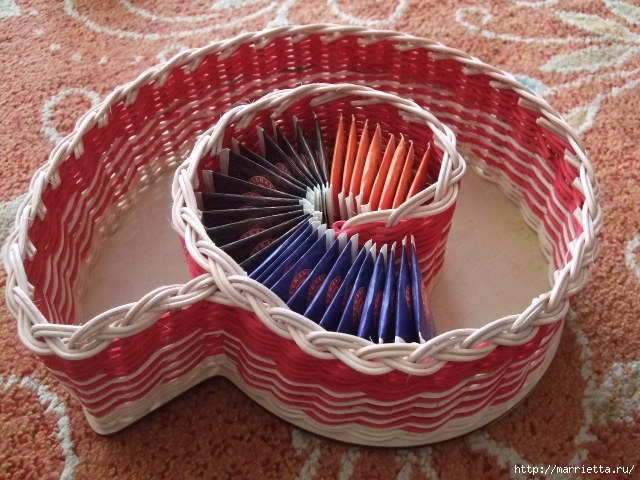 Плетение из газет. Вазочка УЛИТКА для чайных пакетиков (1) (640x480, 236Kb)