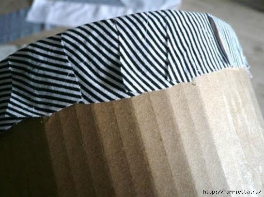 Из картона. Круглая коробочка для рукоделия (4) (545x407, 138Kb)