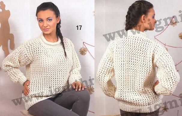 Сетчатый Пуловер