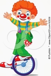 Превью 93506-Cute-Party-Clown-Boy-Riding-A-Unicycle-Poster-Art-Print (301x450, 78Kb)
