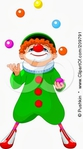 Превью 209791-Cute-Party-Clown-Looking-Up-And-Juggling-Poster-Art-Print (251x450, 60Kb)