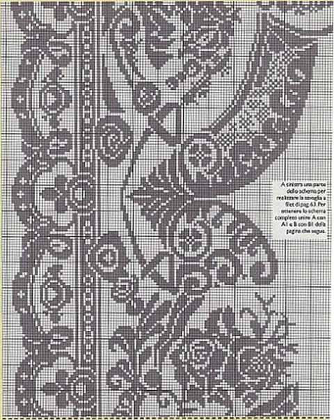 Схема для вязания скатерти