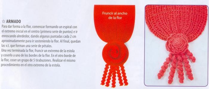 Две шали и цветочный воротничок крючком. Схемы (2) (700x299, 309Kb)
