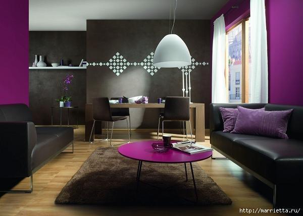 Сиреневый цвет в интерьере. Стильный дизайн (25) (600x428, 106Kb)
