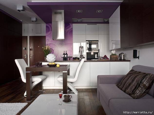 Сиреневый цвет в интерьере. Стильный дизайн (38) (632x471, 107Kb)