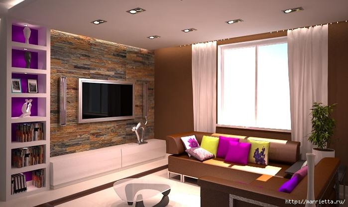 Сиреневый цвет в интерьере. Стильный дизайн (44) (700x415, 192Kb)