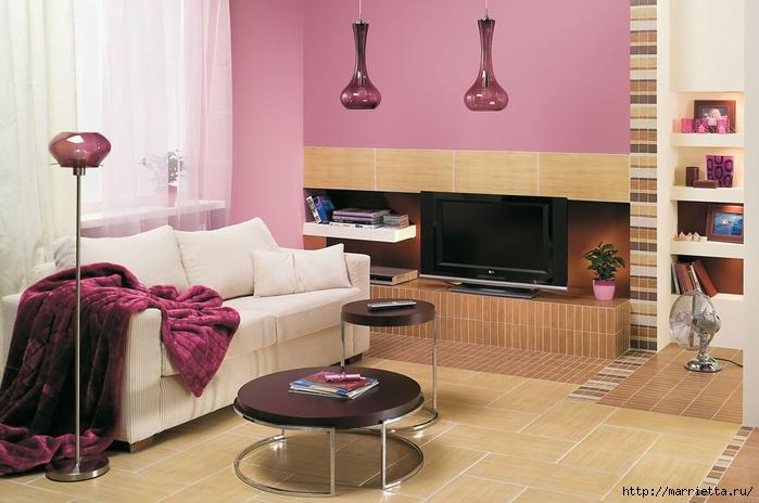 Сиреневый цвет в интерьере. Стильный дизайн (64) (700x464, 223Kb)