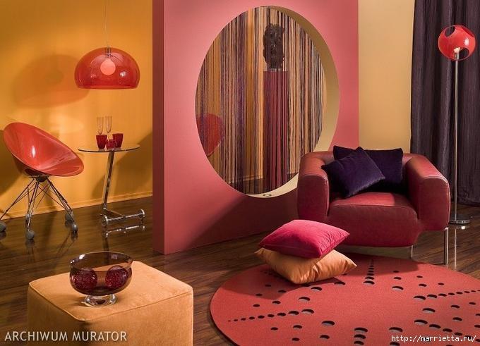 Сиреневый цвет в интерьере. Стильный дизайн (74) (680x491, 160Kb)