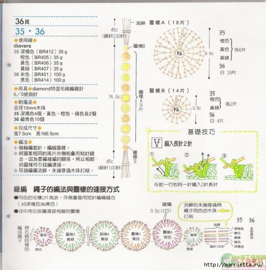 Вязание крючком. ПОЯСА (6) (540x547, 151Kb)