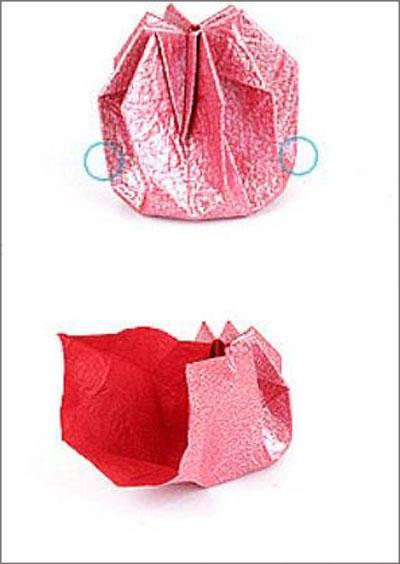 Коробка шоколадок в подарок. Обертка-оригами для конфет  (5) (400x564, 91Kb)