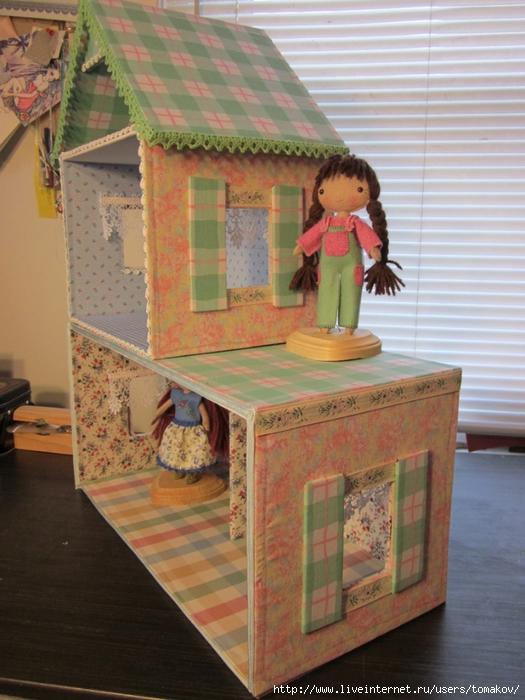 Кукольный дом своими руками фото с коробок 30