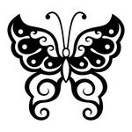 ������ butterfly stencil (4) (700x700, 131Kb)