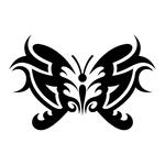 ������ butterfly stencil (11) (700x700, 92Kb)