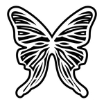 ������ butterfly stencil (19) (700x700, 190Kb)