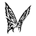 ������ butterfly stencil (28) (700x700, 121Kb)