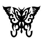 Превью butterfly stencil (700x700, 94Kb)