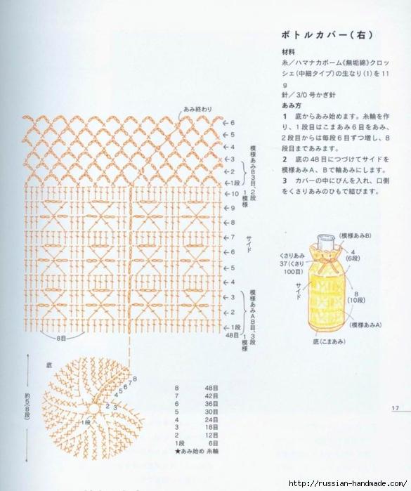 Вязание крючком. Вазочки и сумочка для бутылки (2) (585x700, 254Kb)